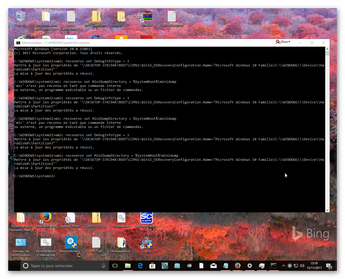 cmd minidump results 15 nov 2k17.png